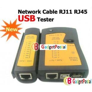 Сетевой Кабельный Тестер RJ11 RJ45  USB с чехлом для переноски