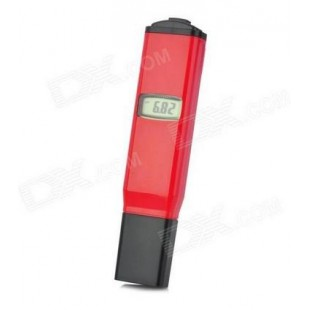 PH-98081 Карманный рН-метр с температурной компенсацией (красный)