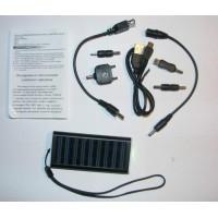 Зарядчик телефонов от солнечной батареи с переходниками