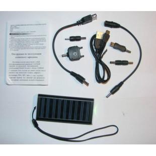 Зарядчик на солнечной батареи с набором переходников