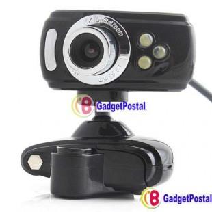 USB 2.0 вебкамера с микрофоном и подсветкой  для компьютера