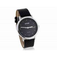 SINOBI  наручные часы из нержавеющей стали с кожаным ремешком
