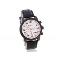 CURREN 8100  часы с  кожаным ремешком (черный)
