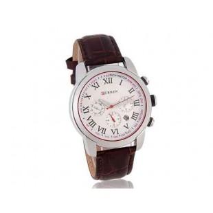Curren 8100  часы с кожаным ремешком (коричневый)