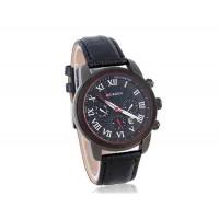 CURREN 8100  часы с кожаным ремешком черный циферблат