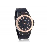 Curren Круглый циферблат мужской Аналоговые часы с пластиковым ремешком (Черный)