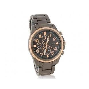 SINOBI Мужские часы из стали с добавлением вольфрама Black Grey (черный)