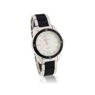 GEMAX 6205 Круглый циферблат искусственного керамические мужские часы (серебро)