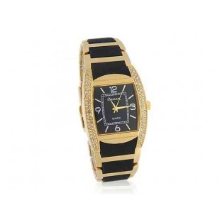 GEMAX 6195 площади набора вольфрамовой стали мужские часы с алмазной украшения (золото)