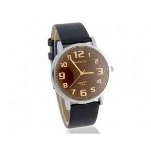 WoMaGe 139-7 Мужские Аналоговые часы с ПУ кожаный ремешок (черный)