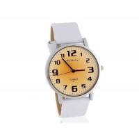 Womage 139-7 мужские Аналоговые часы с ПУ кожаный ремешок (белый)