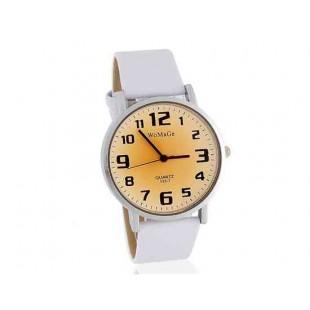 Womage 139-7 Мужская Аналоговые часы с ПУ кожаный ремешок (белый)