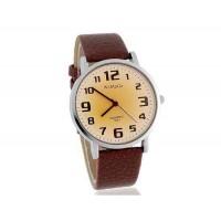 WoMaGe 139-7 Мужские Аналоговые часы с ремешком кожи PU (коричневый)