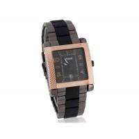 GEMAX 6208 площади набора мужской Керамика кварцевые часы с нержавеющей стали ремешок (золото)