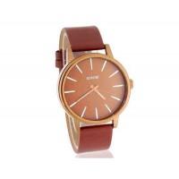 SINOBI 9213 Мужские кварцевые часы с кожаным ремешком (коричневый)