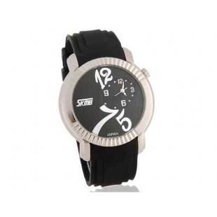 SKMEI 9046 Стильный водостойкой Аналоговые часы с Дата (черный)