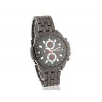 SINOBI Мужские Аналоговые часы из нержавеющей стали (черный)