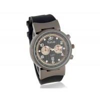 VALIA  8196-1 мужские Круглый циферблат Аналоговые часы с каучуковый ремешок (черный)