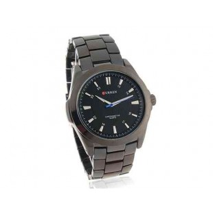 CURREN 8109 Мужская Круглый циферблат сплава аналоговые часы (черный)