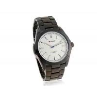 CURREN 8109 мужские Круглый циферблат сплава аналоговые часы (белый)
