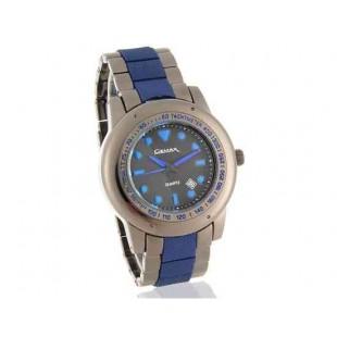 Gemax 6287 Мужская Круглый циферблат аналоговые часы с датой Дисплей (синий)