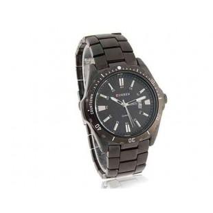 CURREN 8110 Мужская Круглый циферблат аналоговые часы с датой Дисплей (черный)