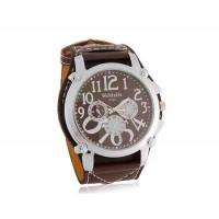 WoMaGe 9150 Стильный Аналоговые часы с PU кожаный ремешок (коричневый)