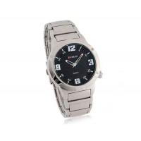 CURREN 8111 Водонепроницаемость стильные аналоговые часы с Аллой ремешок (черный)
