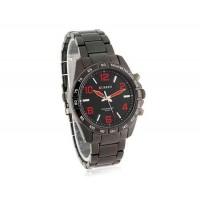 CURREN 8107 Водонепроницаемые стильные аналоговые часы с красным ремешком (красный)