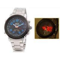 Стрелочный  и светодиодные дисплей 30m водонепроницаемые спортивные часы WH-1105