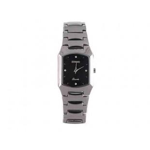 Sinobi Элегантные часы с черным циферблатом Black Silver Edition