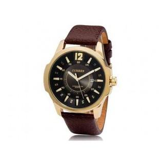 CURREN 8123 наручные часыс календарем   (черный)