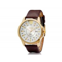 CURREN 8123 мужские Круглый циферблат аналогового Кварцевые часы с датой Дисплей (белый)