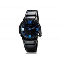 CURREN 8111 мужские Круглый циферблат аналоговых часов с вольфрама сталь ремешок (синий)