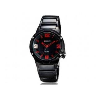 CURREN 8111 Мужские часы Аналоговые Круглый циферблат с вольфрама стальной лентой (красный)