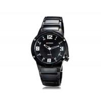 CURREN 8111 мужские Круглый циферблат Аналоговые часы с вольфрамовой стали ремешок (белый)