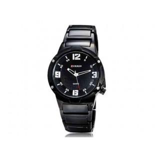 CURREN 8111 Мужская Круглый циферблат Аналоговые часы с вольфрамовой стали ремешок (белый)