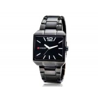 CURREN 8132 мужские часы с браслетом из нержавеющей стали (черные)