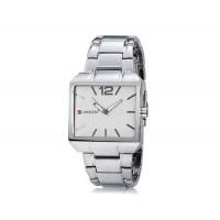 CURREN 8132 мужские площади набора Аналоговые часы с Браслет из нержавеющей стали (белая)