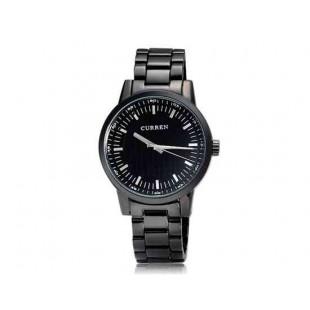 CURREN 8131 мужские круглые черный циферблат аналоговые часы (черный)