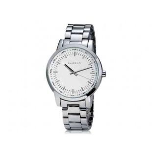 CURREN 8131 Мужские часы с круглым циферблатом браслет из нержавеющей стали  (белый)
