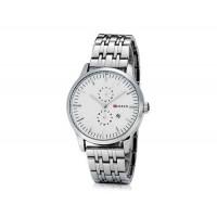 CURREN 8133 мужские Круглый циферблат Аналоговые часы с нержавеющей стали ремешок (белый)