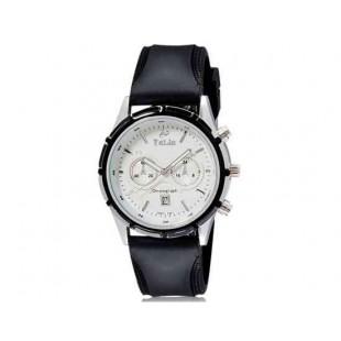Валя 8186 Мужская Аналоговые часы с календарем (белый и черный) М.