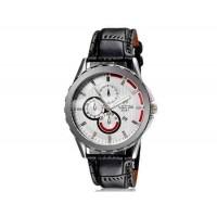 VALIA  8228 людей стильные аналоговые часы с календарем и искусственного кожаный ремешок (белый) М.