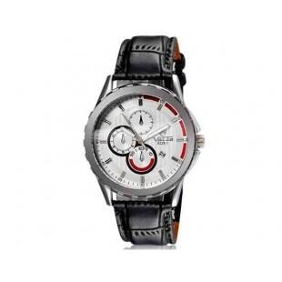 Валя 8228 людей стильные аналоговые часы с календарем и искусственного кожаный ремешок (белый) М.