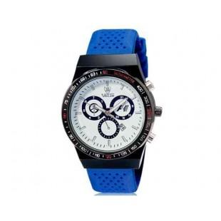 Валя 8206 Мужская Аналоговые часы с календарем (синий) М.