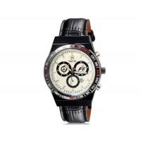 VALIA  8206 Мужские Аналоговые часы с календарем и искусственного кожаный ремешок (черный) М.