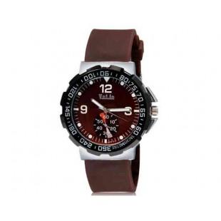 Валя 8202 Мужская Аналоговые часы с силиконовым ремешком (коричневый) М.