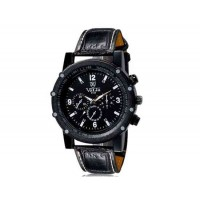 VALIA  9103 мужские модные Аналоговые часы с искусственного кожаный ремешок (черный) М.