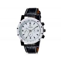VALIA  9103 мужские модные Аналоговые часы с Faux кожаный ремешок (белый) М.